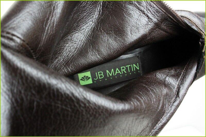Bottes Bottes Bottes JB MARTIN Cuir brown Foncé T 36 TBE adc3e0