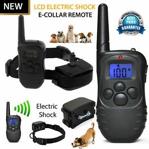 Dog-Training-Collar-Electric-Shock-E-Collar-Remote-Control-Rechargeable-NEW-UK