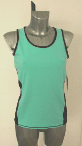 M/&S Collection Fitness Size 12 Cotton Rich Sports Vest Top Light Jade