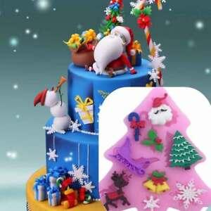 Stampo-silicone-Albero-Natale-decorazioni-natalizie-pasta-zucchero-Cake-Design
