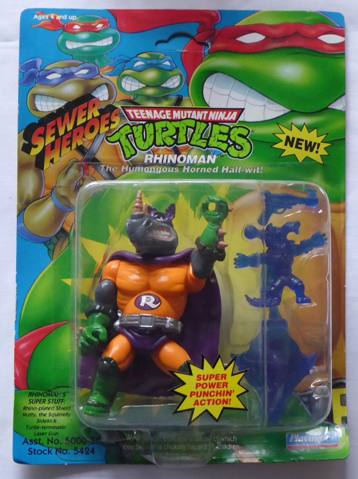 1994 tmnt teenage mutant ninja turtles abbildung rhinoman - misb