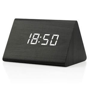 Oct17 Wooden Wood Clock 2019 New Version LED Alarm Digital Desk Clock 3 Levels