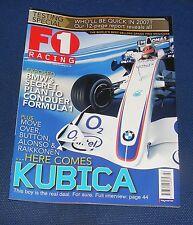 F1 RACING FEBRUARY 2007 - HERE COMES KUBICA