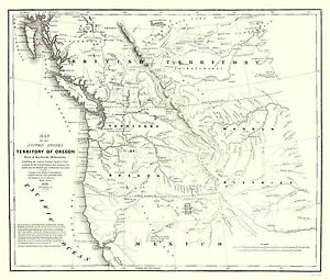 Old North America Map.Old North America Map Oregon Territory Map Stansbury 1838 23 X