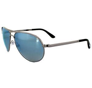 37158c92e1 Tom Ford Sunglasses 0144 Marko 14X Shiny Light Ruthenium Blue Mirror ...