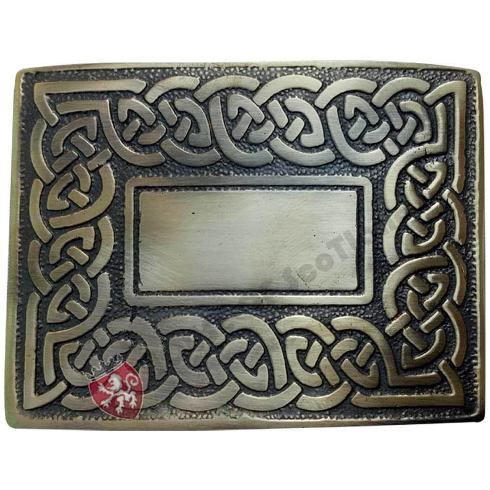 New Celtic Knot Kilt Belt Buckle Antique Finish Scottish Belts Buckles Highland