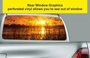 Window-Graphic-Tint-Truck-Jeep-SUV-Sunset-Over-Reeds-Sticker-S94