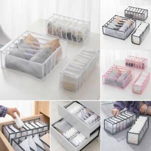 Foldable Underwear Storage Box Compartment Underpants Bra Organizer Drawer # C