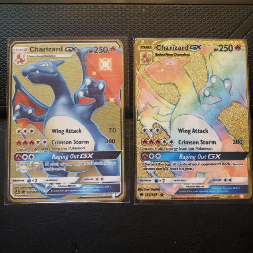 Shiny Charizard GX & Rainbow Charizard GX SV49/SV34 150/147 Tracking*