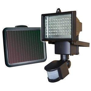 Das Bild Wird Geladen 60 LED Solar Bewegungsmelder Strahler  Licht Sicherheit Lampe