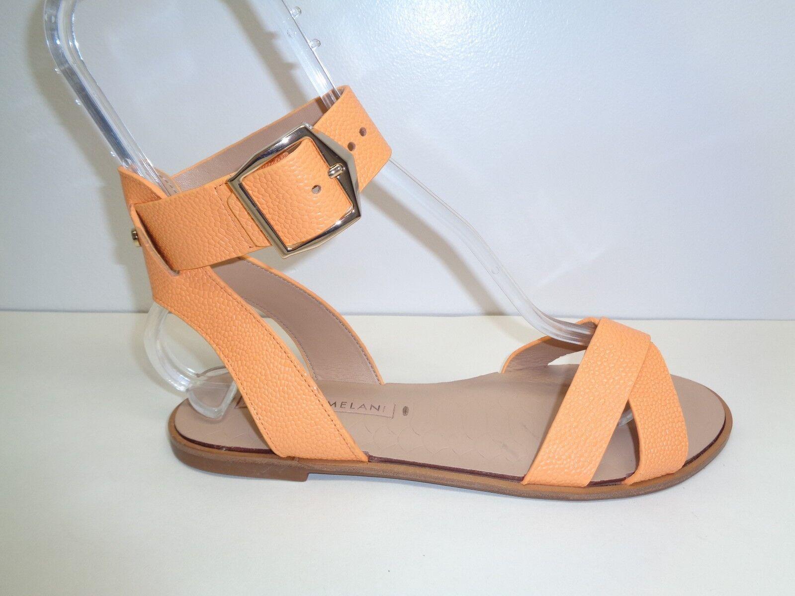 Antonio Melani Größe 7.5 M DUANE Orange Leder Cross Sandales NEU Damenschuhe Schuhes