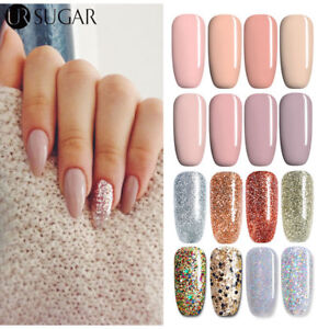 Shiny Beauty Color Collection Soak Off Gel Nail Polish Silver Nude
