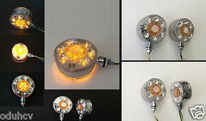 /Única de 2 x Cromo /ámbar blanco LED de luz de marcador lateral para Cami/ón Remolque Chasis