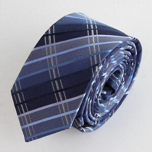 UNA-Schmal-100-Seiden-Krawatte-Tie-Cravate-62