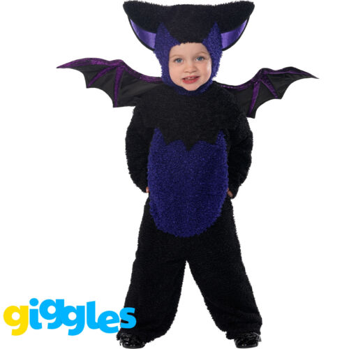 2 Sizes Bat Animal Halloween Toddler Boys Smiffys Fancy Dress Costume
