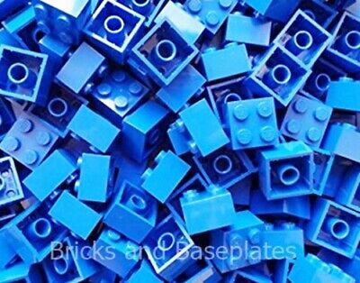 LEGO BRICKS 500 x BLUE 2x2 Pin  From Brand New Sets Sent In a Sealed Bag