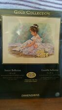"NIP Dimensions Gold Collection ""Sweet Ballerina"" Counted Cross Stitch kit #35245"