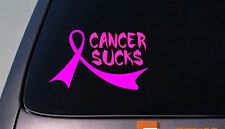 "2X Breast Cancer Pink Ribbons 6"" Sticker Decals Relay for life cancer cure*C221*"