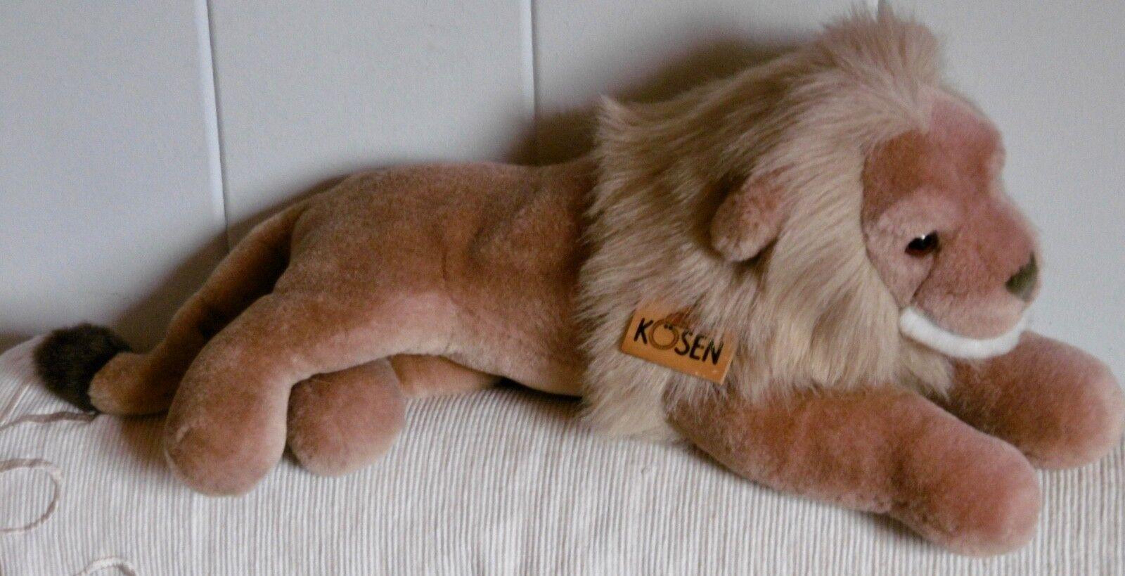 Original KÖSEN Plüschtier  Löwe liegend  42 cm top Zustand