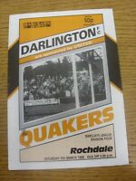 05/03/1988 Darlington v Rochdale  .  Thanks for viewing our item, we try and ins