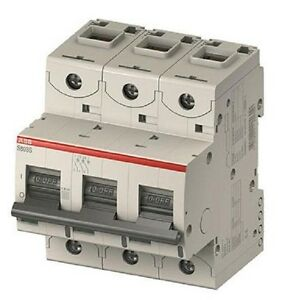 Abb Circuit Breaker 240 415vac 125vdc 3 Poles Din Rail
