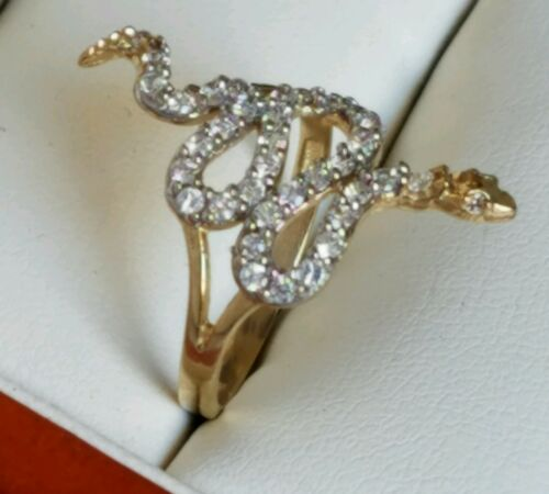.70 Ct 14k or Jaune Serpent Ring S 5 6 7 8