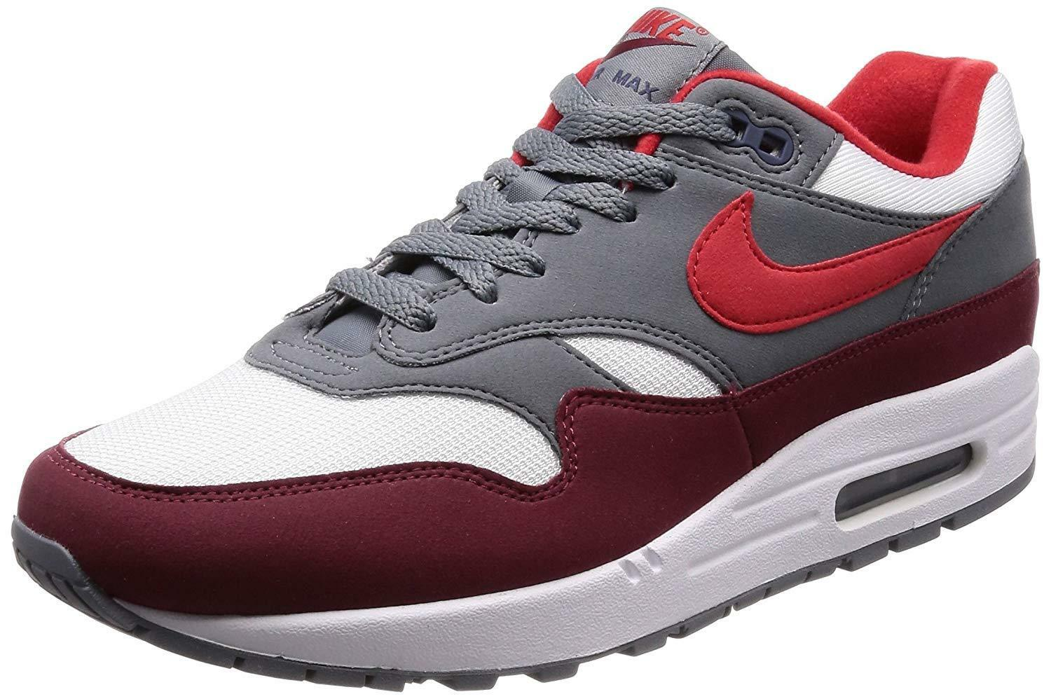 Nike Air Max 1 White University Red-Cool Grey (AH8145 100)