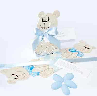 Taufmandeln Gastgeschenk Taufe Mädchen /'Teddy/' Bär