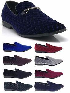 e89b163a97d81f New Men Vintage Velvet Dress Shoes Tuxedos Loafers Slip On Classic ...