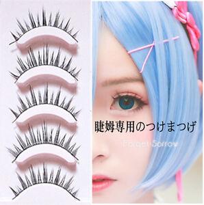Lolita Cosplay False Eyelashes Cross 3d 5 Pairs Eye Makeup Handmade