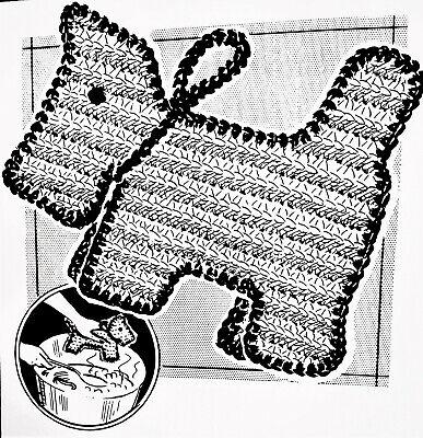 5044 Vintage Anne Cabot IRISH ROSE POTHOLDER Pattern to Crochet Reproduction