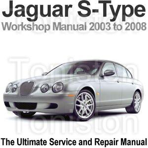 jaguar s type 2003 to 2008 workshop service and repair manual on cd rh ebay com 2003 jaguar s type service manual pdf 2003 jaguar s type service manual pdf