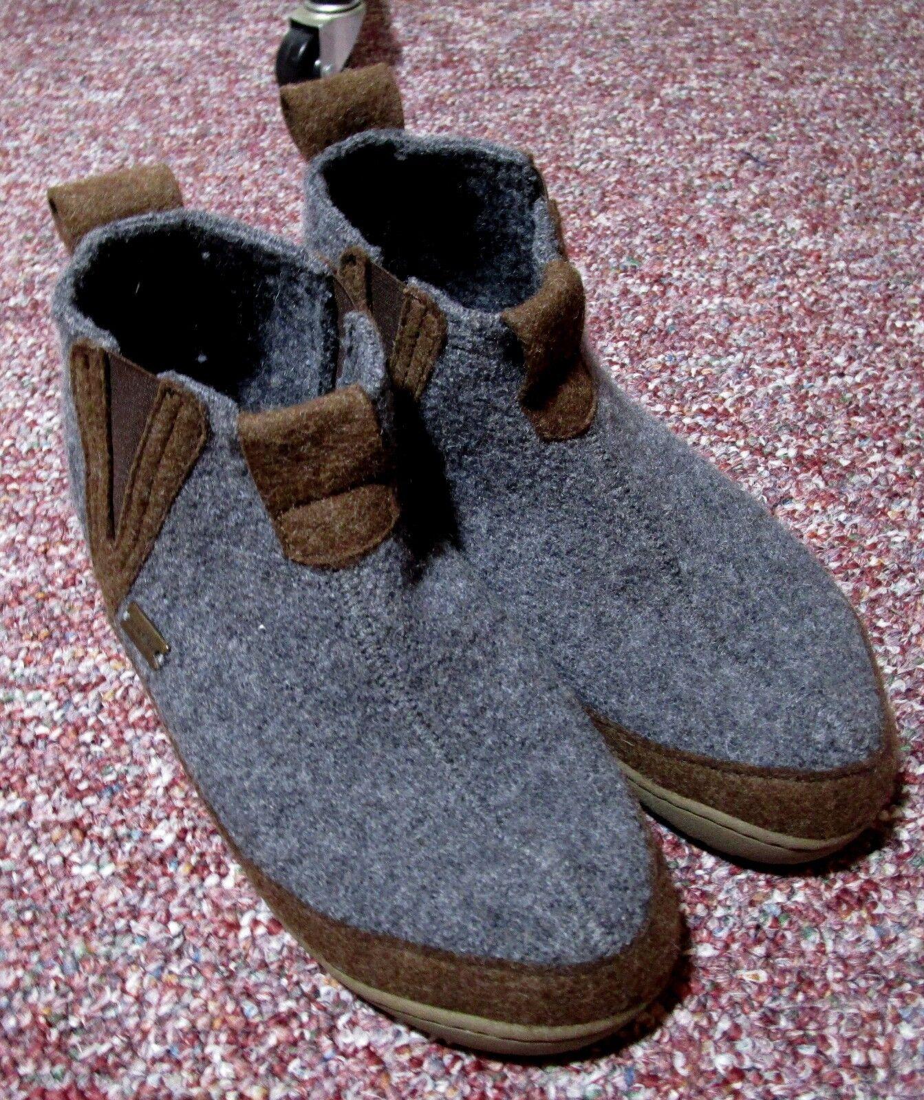 d324a651f8de9 Men's HAFLINGER Gray Wool Wool Wool Moccasin Ankle Boots Size 7 US, (38)
