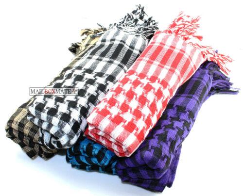 Black and White Arab Arafat Shemagh Keffiyeh Scarf Neck Wrap