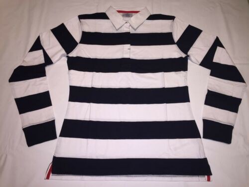 White//Navy R37. New Ladies Front Row FR111 Striped Rugby Shirt XXL//18