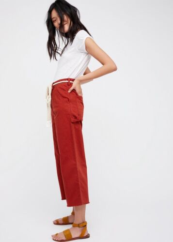 6 People 10 12 Crop Free Red New 4 Essential Jeans In Carpenter Pants Pxvp4w