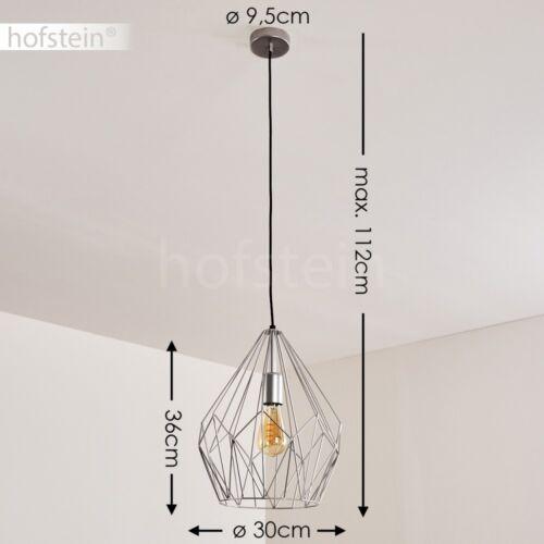 silberfarbene Retro Design Hänge Leuchten Ess Wohn Schlaf Zimmer Pendel Lampen