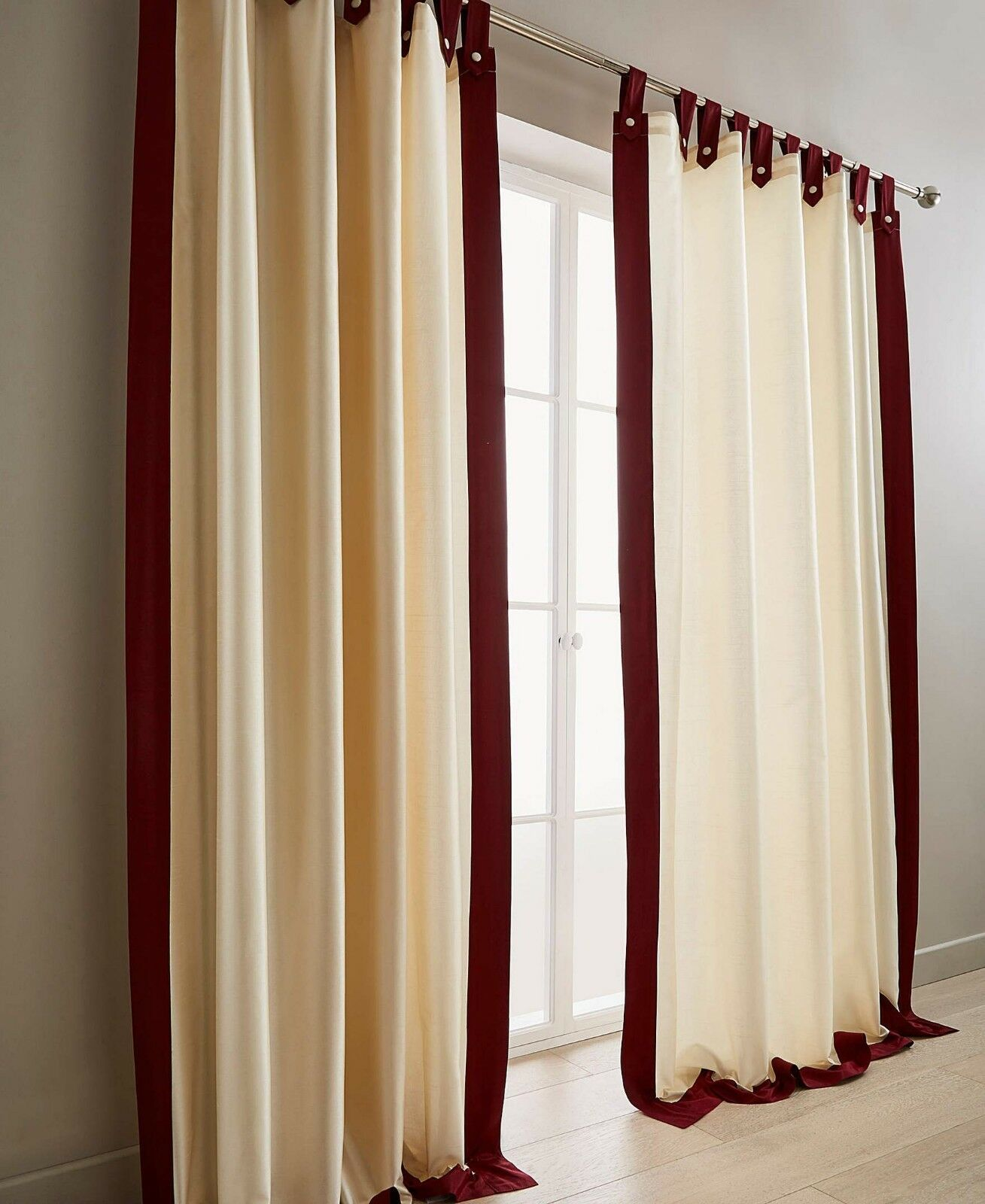 Harlington Lined Faux (Pair) Silk Tab Top Curtains Range (Pair) Faux - 5 colours available 1cc5db