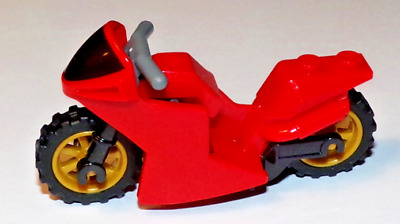 Pearl Gold Wheel Motorbike Scooter Lego Motorcycle Sport Bike Black Frame
