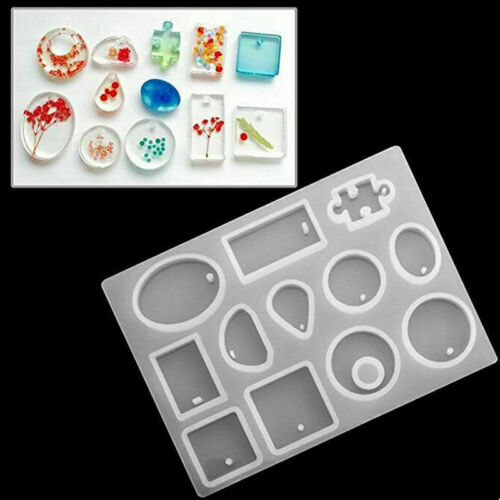 127Pcs Resin Casting Molds Kit Silicone Mold Jewelry Pendant Mould DIY Craft