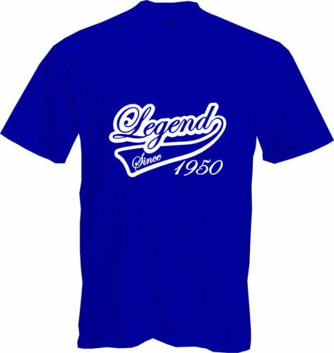 70th BIRTHDAY 2020 Gift Fun LEGEND SINCE 1950 T Shirt Present NEW