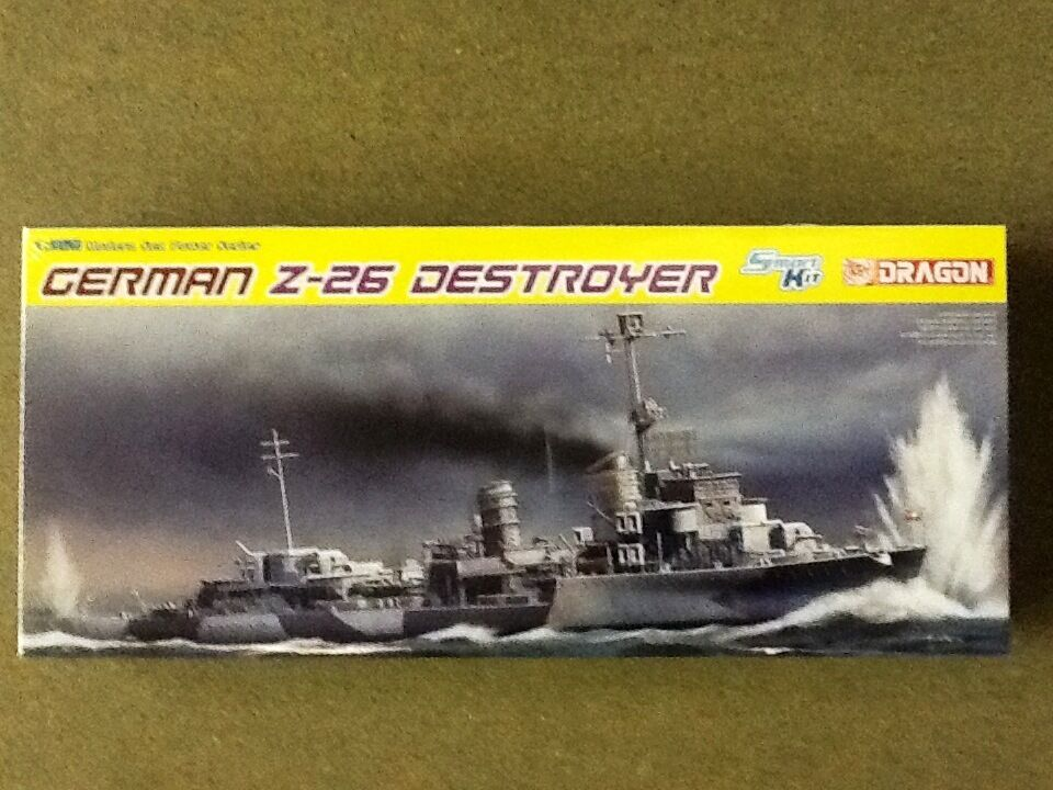 DRAGON 1 350 WW II GERMAN Z-26 DESTROYER PLASIC MODEL KIT FACTORY SEALED