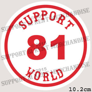SUPPORT-81-KENT-HELLS-ANGELS-ENGLAND-Large-Glossy-Sticker-BIG-RED-MACHINE-WORLD
