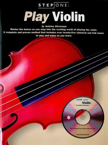 BRAND NEW! PLAY VIOLIN by ANTOINE SILVERMAN METHOD BOOK//CD SET STEP ONE