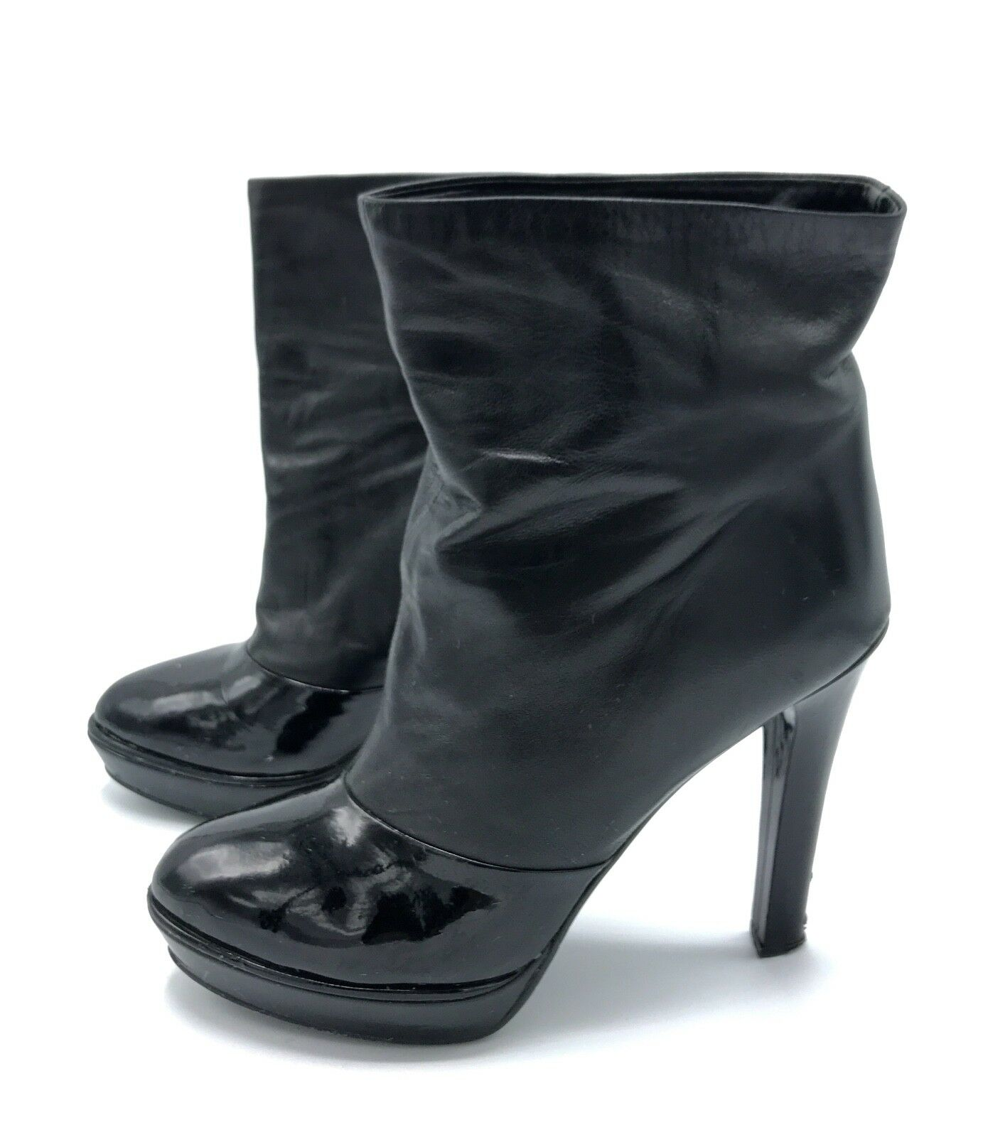 Carlo Pazolini Women's High Heels Platform Patent Leather Ankle Boots US10 EU40