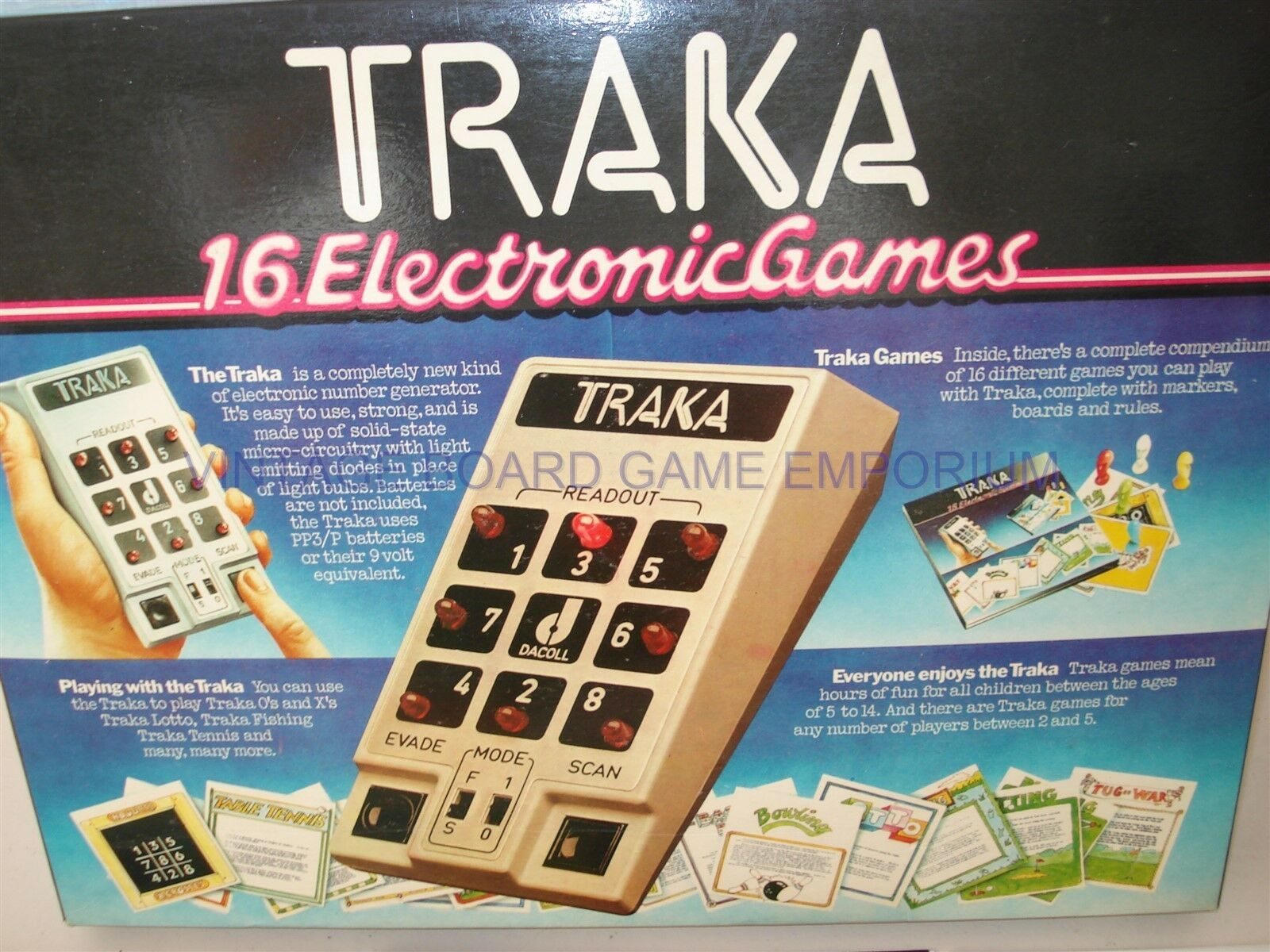 TRAKA GAME - TRAKA 16 ELECTRONIC GAMES - WORKING ORDER - VERY RARE - ELECTRONIC
