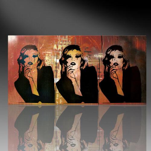 Panorama Wandbild von Kate Moss Kunstdruck auf Leinwand Graffiti div.Größen