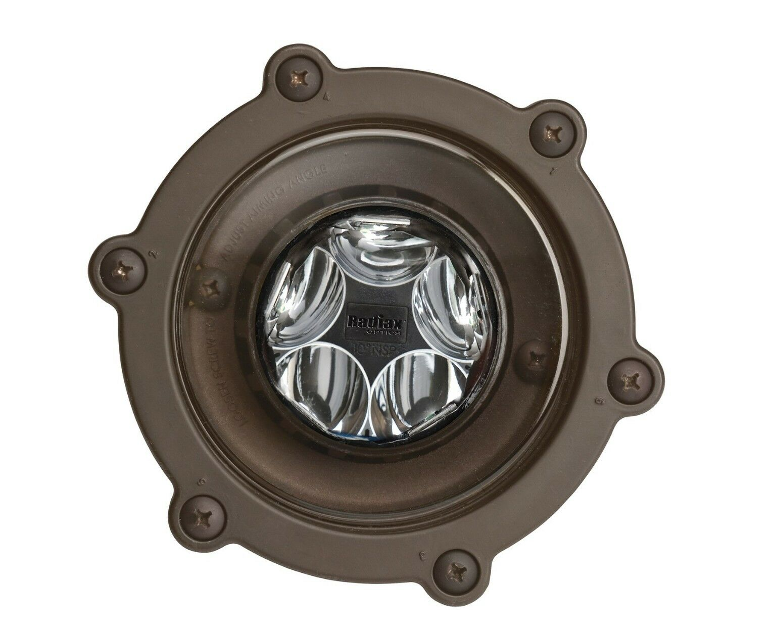 Kichler - 16036BBR27-LED en el suelo Spot, 12V 2700K, 14W, 10 grados, latón bronceado