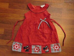 b054c0bf8477 Rare Editions Corduroy Red Jumper Dress w/ Scottie Dogs - Sz. 6 | eBay