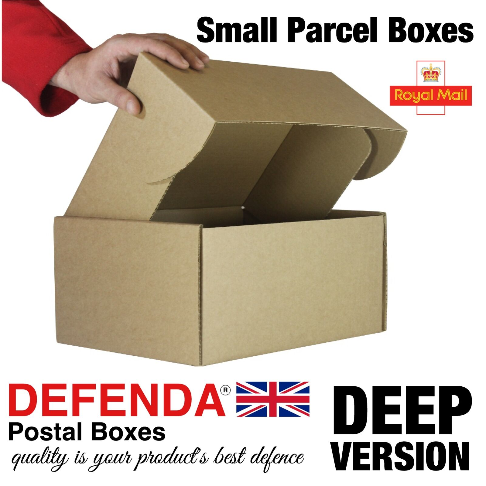 Royal Mail MAXI DEEP SMALL PARCEL BOXES PiP Postal Mailing 322mm 243mm 153mm